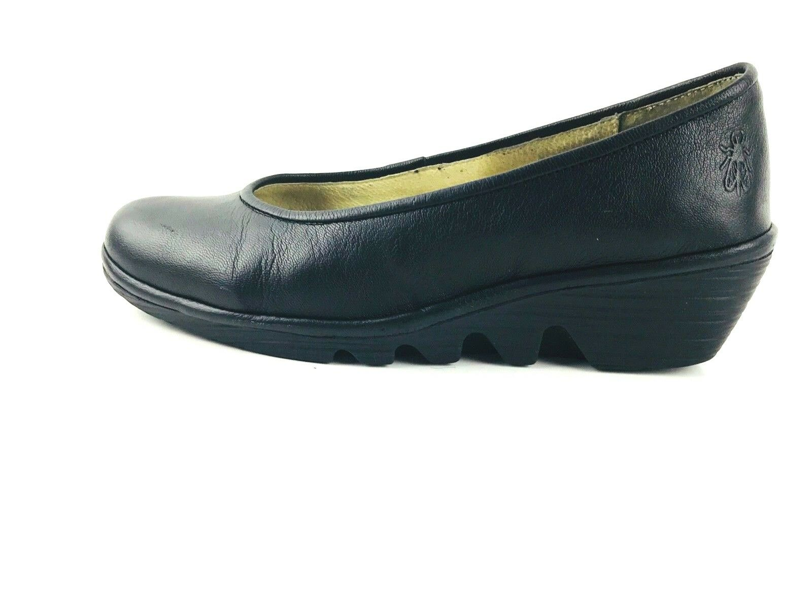 Fly London Women's Wedge Heel Black shoes Size US.5.5 UK.36 EU.3.5