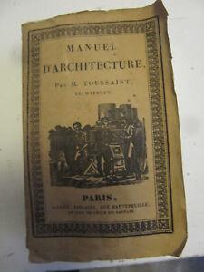 Manuel-d-039-Architecture-M-Toussaint-Roret-Tome-1-seul-1828