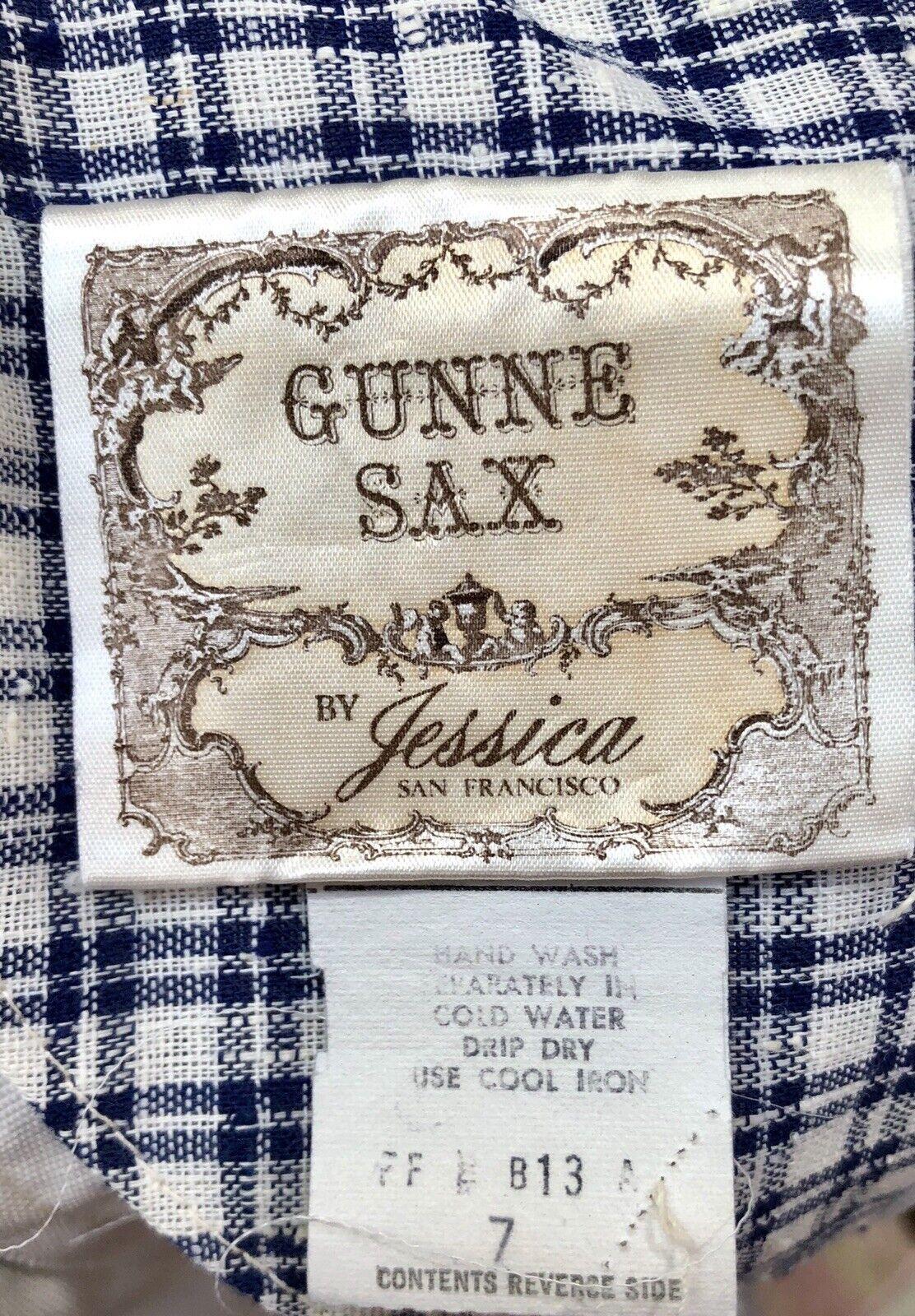 VTG 1970s GUNNE SAX Renaissance Revival GINGHAM J… - image 3