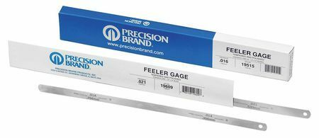 PRECISION BRAND 19385 Feeler Gauge,0.0100x12 L,PK12