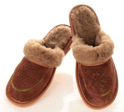 Damen Winter Leder Pantoletten HausSchuhe Pantoffeln braun Gr. 36 bis 41 NEU   eBay