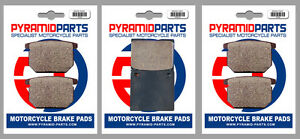 Front & Rear Brake Pads (3 Pairs) for Suzuki GS 650 81-83