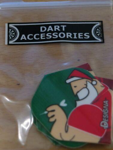 "3 Sets /""Seasons Greetings/""100 Micron Extra Strong Standard Dart Flights 3x3"