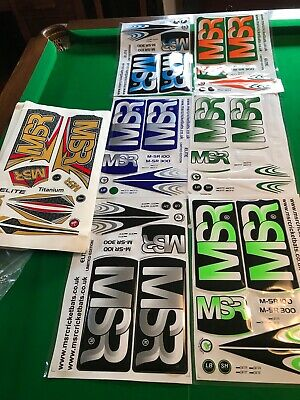 MSR CRICKET BAT STICKERS