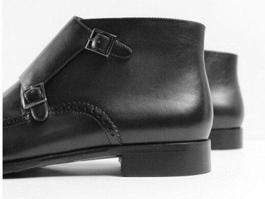 Uomo Handmade Latest Double Monk Straps with Stivali, Brogues Pelle Stivali, with Uomo footwear 683ecc