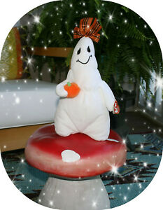 """TY Beanie Baby 2006 GHOST """"GHOULIANNE"""" plush halloween toy"""