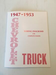 1947-1953 14 Page Wiring Diagram Booklet Manual Book ...