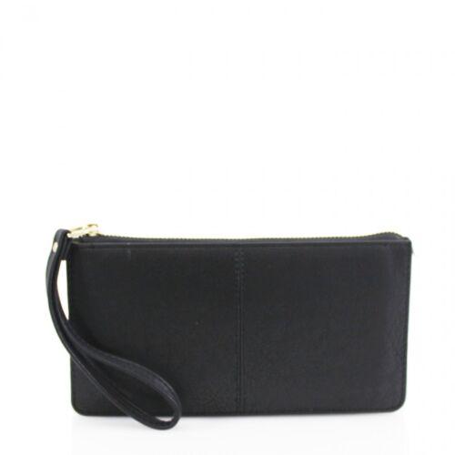 Ladies 20146B Matte Colours Wristlet Zipped Purse Wallet Phone Card Keys Holder