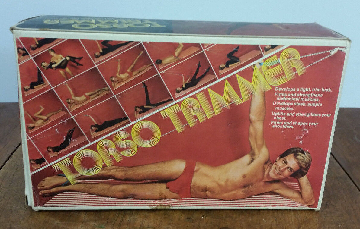 Vintage 70s Torso Trimmer Trimmer Trimmer Exercise Fitness Work Out Home Aerobics Yoga Trainer 3e8551