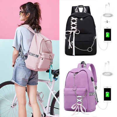 Women Backpack USB Charging Large School Bags for Teenage Girl Laptop  Backpack | eBay