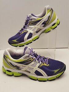 Details about Asics Women's Gel Cumulus 14 Running Shoes PURPLE Yellow White Sz 10 T296N