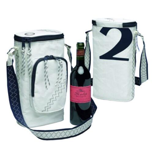 Wein-Kühltasche Sea Princess aus Segeltuch trendiger Weinkühler für 2 Flaschen