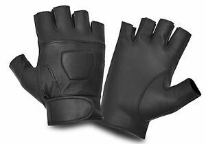 LEATHER-FINGER-LESS-GLOVES-BIKERS-DRIVING-NEW-FASHION-DRESS-STYLE-CHAUFFEUR