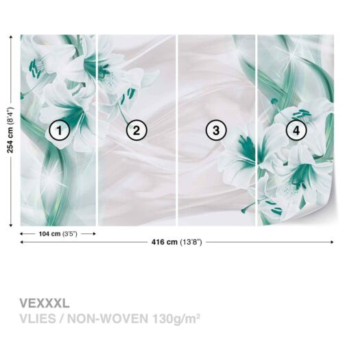Non-woven wallpaper design photo Wallpaper Nature Plants Flowers Green Lily Lilies Flower