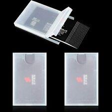 3 Pack Plastic Business Card Holder Clear Pocket Case Slim Wallet Protable Name