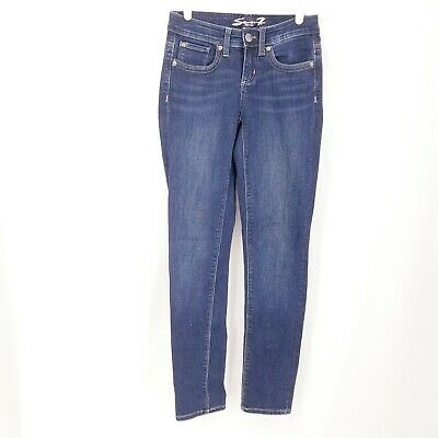 EUC Women/'s LL BEAN Denim Jeans Dark Wash Classic Fit Straight Leg Size 14