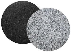 Tischplatte Platte Granit Nero Impala Und Bianco Sardo Rund 120 Cm