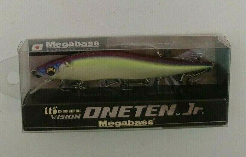 megabass ito vision 110 oneten jr USA suspending jerkbait mg wakasagi ii 3//8oz