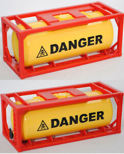 1x Container Tankcontainer Danger Stapelbar 1:50 Neu 3922 Autos, Lkw & Busse
