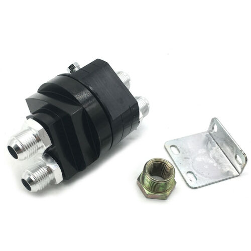 Oil Filter Relocation Male Sandwich Fitting Adapter Kit 3//4X16 20X1.5 Black