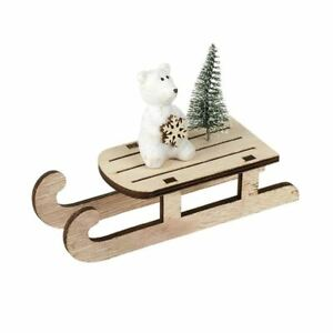 Details About Wooden Sleigh With Polar Bear Christmas Tree Christmas Decoration