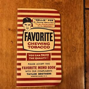 Details about FAVORITE CHEWING TOBACCO GIVE AWAY MEMO BOOK CA 1950