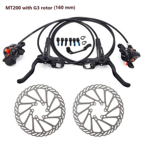 Shimano MT200 Brake Bicycle Bike MTB Hydraulic Disc Brake Set HS1//G3 Optional