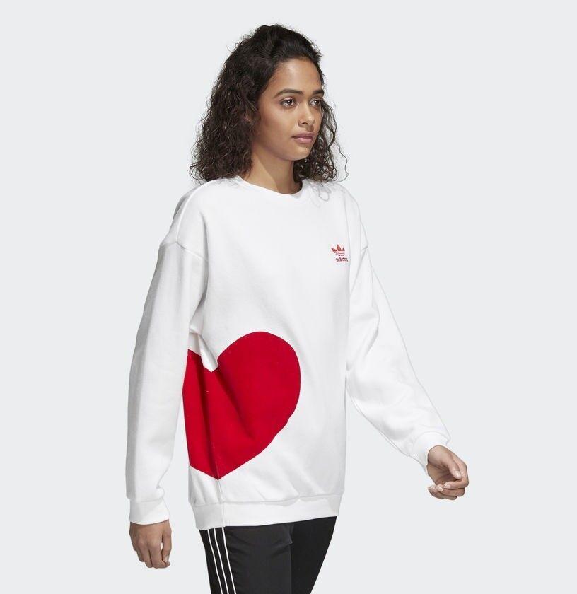 ny Adidas original kvinnor luvtröja Valentine Day Sweatshirt tröja Jumper CE1689