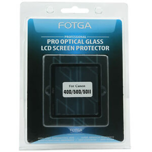 FOTGA-Optical-Glass-Rigid-Hard-LCD-Screen-Protector-For-Canon-40D-50D-5DII-DSLR