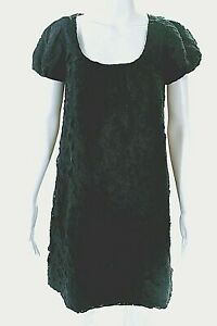 ROBERT-RODRIGUEZ-Black-Label-Women-039-s-Size-4-Linen-Eyelet-Dress-Black