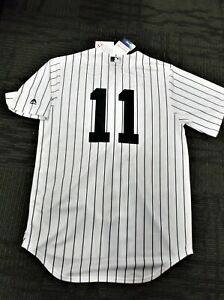 75227e147c7 Brett Gardner   11 NY Yankees Majestic Cool Base Home Jersey 8 FREE ...