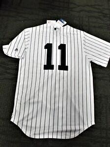 ebca70cac Brett Gardner   11 NY Yankees Majestic Cool Base Home Jersey 8 FREE ...