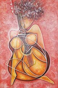 Javier-Martinez-TOY-Acrylic-on-Canvas-36X24-Cuban-Art-Original-Painting-2019