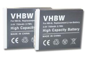 2x BATTERIA per Canon Powershot S90 S-90 SX270 HS SX280 HS SD770 is