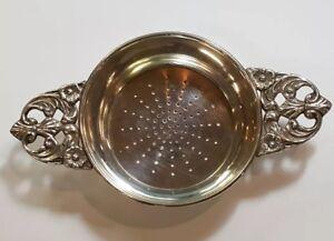 Italian Tea Strainer ~ Silver Tea Caddy ~ 800 Silver ~ Italy ~ Silver ~NBJ890 ~circa 1935