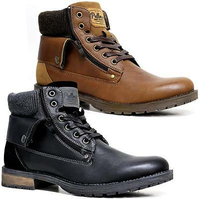 Combate al tobillo para Hombre con Cordones de Moda zapatos botas de vaquero Militar Ejército Motociclista Talla