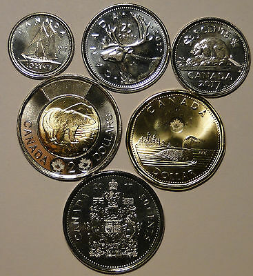5C//10C//25C//$1//$2 BU UNC Canada 1867-2017 150th commemorate 5 coin set No Tax