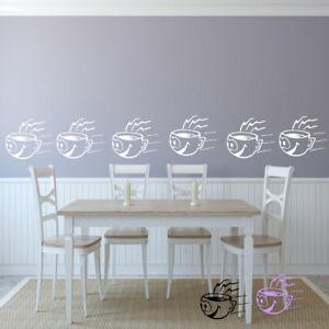 Details zu Wandtattoo Küche 6 lustige Kaffeetassen Sticker FliesenMöbel  Borte