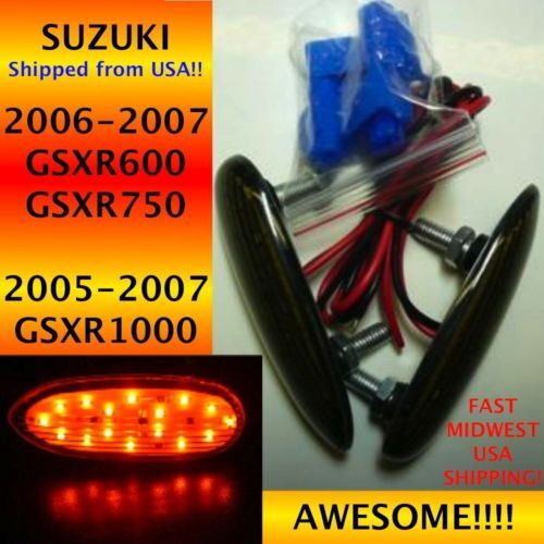 2008 Suzuki GSXR 600 Smoke Flush Mount  LED Front L//R Turn Signals 1 Pair TS09S