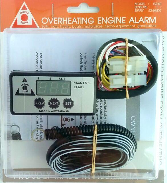 ENGINE GUARD EG01/1 Temperature Alarm- Single Sensor, Buzzer, Digital Display