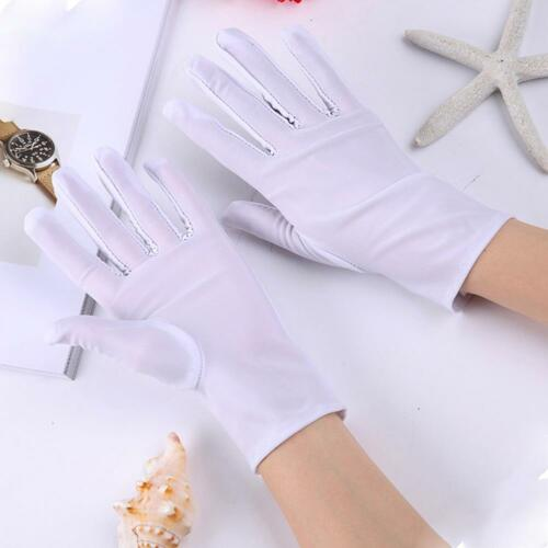 Short Wrist Gloves Smooth Satin For Party Dress Prom Evening Wedding for Lady