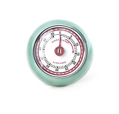 kikkerland RETRO 60 Minute Kitchen Timer Magnetic SEAFOAM KT046-SF wind up