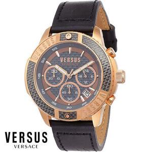 Versus-by-Versace-VSP380717-Admiralty-Chronograph-schwarz-Leder-Herren-Uhr-NEU