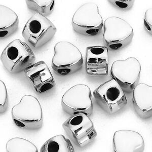 12pcs-LARGE-HOLE-Alloy-Jewelry-Making-Beads-Spacer-Beads-Plated-Love-Heart