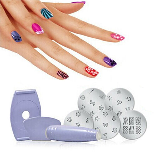 Hot Professional Nail Art Stamp Image Plate Set Manicure Stencil Polish Kit Tool
