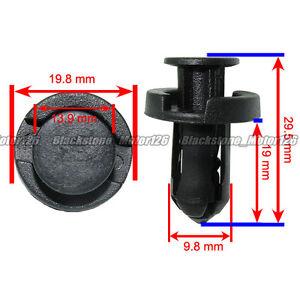 30pcs Plastic Rivet Fastener Bumper Clip Retainer Screw Fender Honda Acura