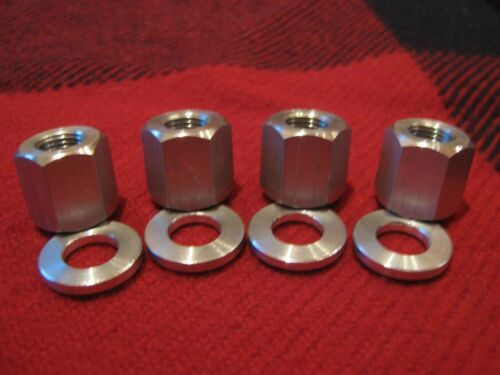 "ATOM BIKES D/'S NUTS 3//8/"" X 26 TPI ALUMINUM BMX AXLE NUTS AND WASHERS 5//8/"" HEX"