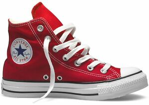Red Hi Converse Chuck White Mens Womens Top Shoes All Star Taylor K3uT15FJcl