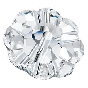 144 Pietre in Cristallo MARGERITA da cucire a 1 foro - mm 6 CRYSTAL