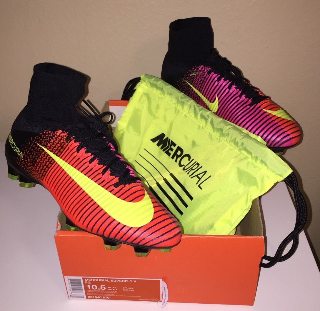 NEW IN BOX NIKE MERCURIAL SUPERFLY V AG-PRO Sz 10.5 831940-870